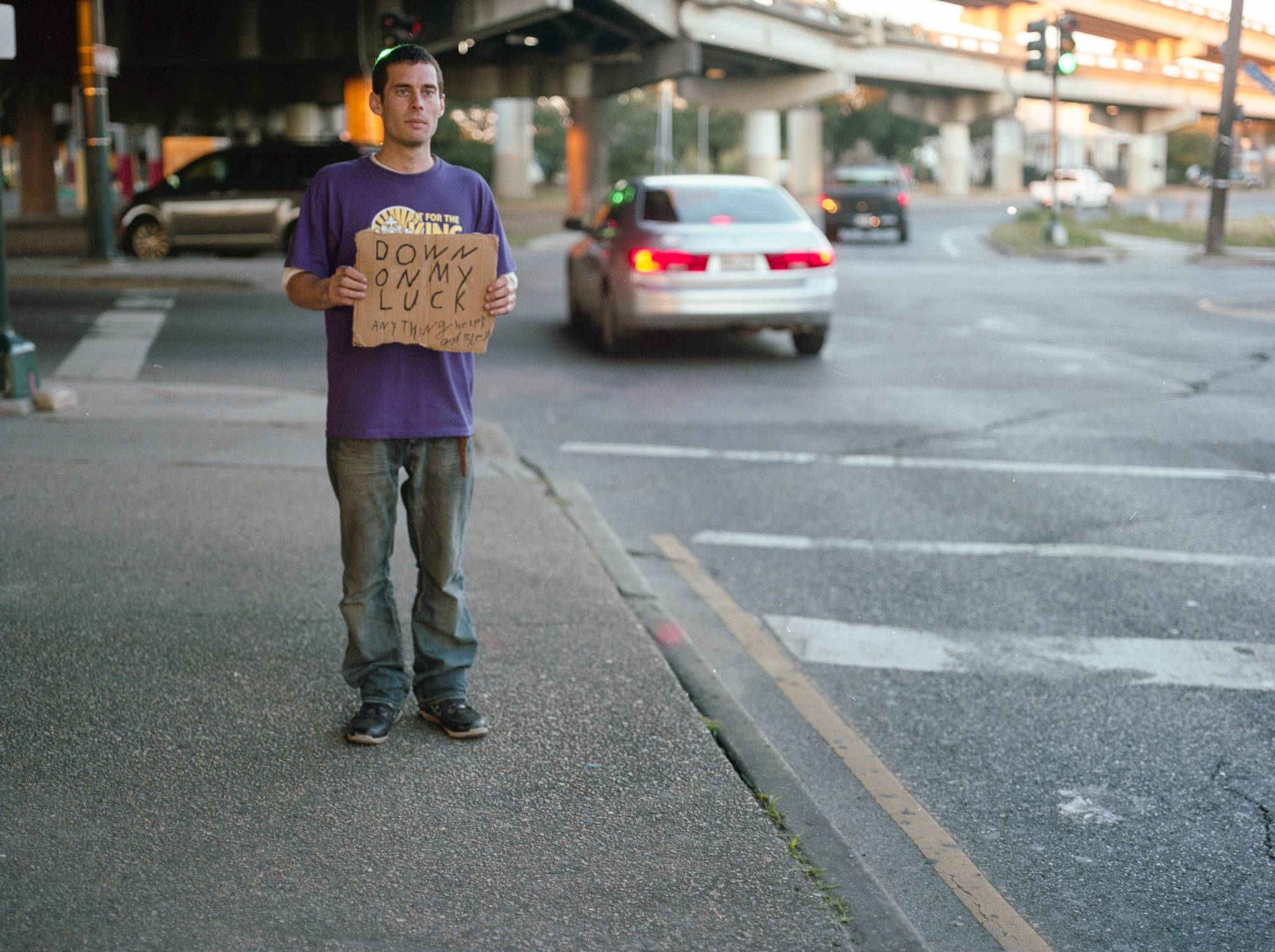 Holding Signs